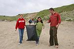 Trillium, Kaya & J. On Beach Cleanup