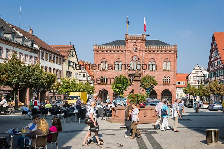 deutschland baden wuerttemberg region heilbronn franken tauberbischofsheim marktplatz und. Black Bedroom Furniture Sets. Home Design Ideas