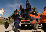 Failed border crossers arrive back in Aqua Prieto, Mexico on Saturday, April 2, 2005. The Mexico humanitarian group Grupo Beta rescues Mexicans who attempt to cross the US/Mexico border.<br />