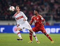 FUSSBALL   1. BUNDESLIGA  SAISON 2012/2013   19. Spieltag   VfB Stuttgart  - FC Bayern Muenchen      27.01.2013 Martin Harnik (li, VfB Stuttgart) gegen David Alaba (FC Bayern Muenchen)