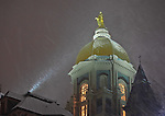 1.23.13 Dome Night Snow.JPG by Matt Cashore/University of Notre Dame