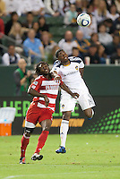 CARSON, CA – NOVEMBER 14: FC Dallas defender Ugo Ihemelu (3) and LA Galaxy forward Edson Buddle (14) during the Western Conference Final soccer match at the Home Depot Center, November 14, 2010 in Carson, California. Final score LA Galaxy 0, Dallas FC 3.