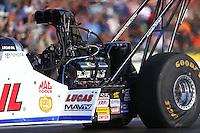 Jun 3, 2016; Epping , NH, USA; NHRA top fuel driver Richie Crampton during qualifying for the New England Nationals at New England Dragway. Mandatory Credit: Mark J. Rebilas-USA TODAY Sports