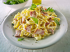 Traditional Italian Tagliatelli Carbonara