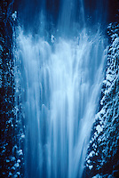 73860030 base of multnomahl falls with ice crystals in the columbia river gorge natioinal scenic area in northern oregon