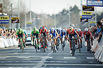 The bunch sprint for 4th place at the end of the 60th edition of the Record Bank E3 Harelbeke 2017, Flanders, Belgium. 24th March 2017.<br /> Picture: Jim Fryer/BrakeThrough Media   Cyclefile<br /> <br /> <br /> All photos usage must carry mandatory copyright credit (&copy; Cyclefile   Yuzuru Sunada)
