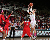 STANFORD, CA - February 16, 2014: Stanford Cardinal's Mikaela Ruef during Stanford's 74-48 victory over Arizona at Maples Pavilion.