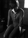 Conor Oberst photographed in Seattle, WA.  Ocober 17th, 2004.