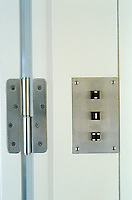 Details such as door hinges and light switches have been designed with the same minimalist and functional ethos as the rest of a house designed by Oswald Mathias Ungers in his characteristically pared-down style