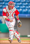 22 February 2013: Washington Nationals' catcher Wilson Ramos warms up during a full squad Spring Training workout at Space Coast Stadium in Viera, Florida. Mandatory Credit: Ed Wolfstein Photo *** RAW File Available ***