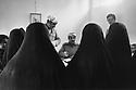 Iraq 1974 <br /> The resumption of hostilities, Kurdish women being registered in Galala as refugees   <br /> Irak 1974 <br /> La reprise de la lutte arm&eacute;e, femmes refugiees au bureau d'enregistrement a Galala