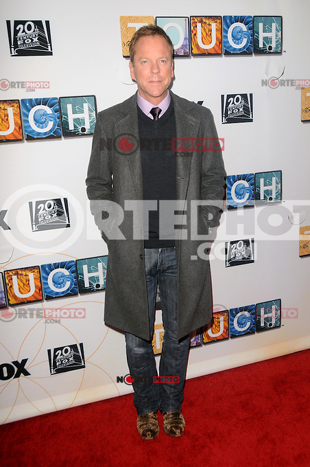 Kiefer Sutherland asiste a la proyecci&oacute;n TOUCH y panel de discusi&oacute;n en el Teatro Leonard H. Goldenson en North Hollywood, California.<br />