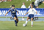 19 June 2004: Shannon MacMillan (8) and Kristine Lilly (13). The Washington Freedom tied the Boston Breakers 3-3 at the National Sports Center in Blaine, MN in Womens United Soccer Association soccer game featuring guest players from other teams.
