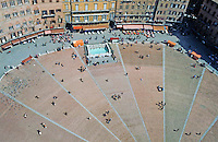 Siena:  Piazza Del Campo.  View from Tower.  Photo '83.