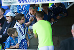 St Johnstone v Celtic&hellip;.McDiarmid Park, Perth.. 11.05.16<br />Leigh Griffiths signs autographs fro young saints fans before kick off<br />Picture by Graeme Hart.<br />Copyright Perthshire Picture Agency<br />Tel: 01738 623350  Mobile: 07990 594431