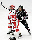 Jill Cardella (BU - 22), Rhianna Kurio (Union - 12) - The Boston University Terriers defeated the visiting Union College Dutchwomen 6-2 on Saturday, December 13, 2012, at Walter Brown Arena in Boston, Massachusetts.