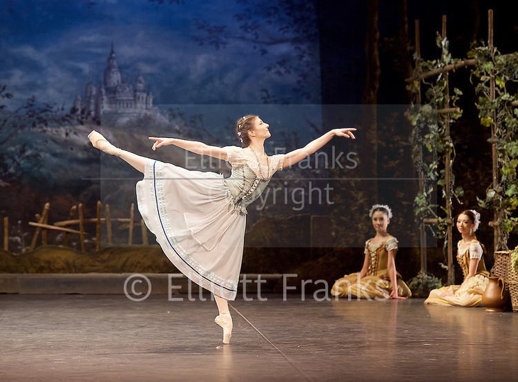 Giselle <br /> English National Ballet at The London Coliseum, London, Great Britain <br /> rehearsal <br /> 10th January 2017 <br /> <br /> Alina Cojocaru as Giselle <br /> <br /> <br /> Photograph by Elliott Franks <br /> Image licensed to Elliott Franks Photography Services
