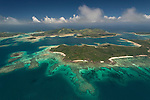 Aerial - Reefs near Turtle island.