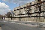 Robin Hood Gardens local authority council housing estate. East London E14. UK 2008. Cotton Street E14.