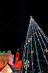 Israel, Nazareth, Christmas at Mary's Square in front of St. Gabriel Church