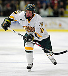 "19 January 2007: University of Vermont forward Colin Vock from Plymouth, MI, in action against Boston College at Gutterson Fieldhouse in Burlington, Vermont. The UVM Catamounts defeated the BC Eagles 3-2 before a record setting 50th consecutive sellout at ""the Gut""...Mandatory Photo Credit: Ed Wolfstein Photo."