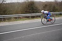 Daniel Hoelgaard (NOR/FDJ) low&amp;fast<br /> <br /> 69th Kuurne-Brussel-Kuurne 2017 (1.HC)