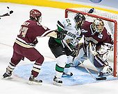 Brian O'Hanley, Chris Porter, Cory Schneider - The Boston College Eagles defeated the University of North Dakota Fighting Sioux 6-5 on Thursday, April 6, 2006, in the 2006 Frozen Four afternoon Semi-Final at the Bradley Center in Milwaukee, Wisconsin.