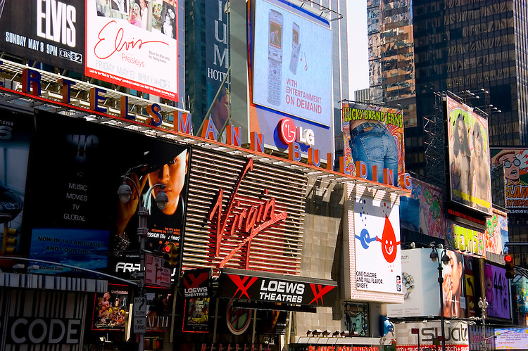 New York City, New York: Times Square   .Photo #: ny297-14979  .Photo copyright Lee Foster, www.fostertravel.com, lee@fostertravel.com, 510-549-2202.