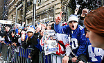 New York Giants Super Bowl XLVI victory parade through the Canyon of Heroes along Broadway in in New York, United States. 7/02/2012. Photo by Kena Betancur / VIEWpress..