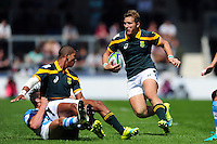 Franco Naude of South Africa U20 in possession. World Rugby U20 Championship 3th Place Play-Off between Argentina U20 and South Africa U20 on June 25, 2016 at the AJ Bell Stadium in Manchester, England. Photo by: Patrick Khachfe / Onside Images