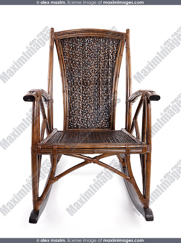 Antique wicker rocking chair fashion commercial fine art stock