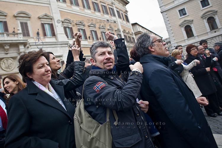 ROMA 15/03/2012: Inizia la XVII Legislatura della Repubblica Italiana. L'ingresso degli Onorevoli a Montecitorio. Nella foto Scalfarotto PD FOTO DI LORETO ADAMO
