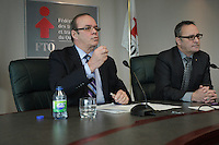 January 3rd, 2013 File Photo of Michel Arsenault (L), President, Federation des Travailleurs du Quebec (FTQ) union who  resigned in November 2013, one day after an investigative report into his dealings with Premier Pauline Marois amid a barrage of other controversies.