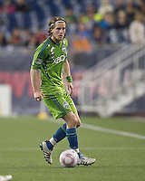 Seattle Sounders midfielder Erik Friberg (8) at midfield. In a Major League Soccer (MLS) match, the Seattle Sounders FC defeated the New England Revolution, 2-1, at Gillette Stadium on October 1, 2011.