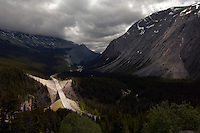 High view point of Icefields Parkway, British Colombia, Banff National Park, Canada, North America.