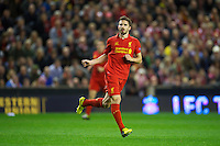 LIVERPOOL, ENGLAND - Thursday, October 4, 2012: Liverpool's Fabio Borini in action against Udinese Calcio during the UEFA Europa League Group A match at Anfield. (Pic by David Rawcliffe/Propaganda)
