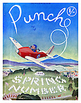 Punch Almanacks, Spring, Summer and Autumn Number Front Covers Selection