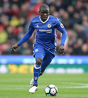 Chelsea's Ngolo Kante<br /> <br /> Photographer Mick Walker/CameraSport<br /> <br /> The Premier League - Stoke City v Chelsea - Saturday 18th March 2017 - bet365 Stadium - Stoke<br /> <br /> World Copyright &copy; 2017 CameraSport. All rights reserved. 43 Linden Ave. Countesthorpe. Leicester. England. LE8 5PG - Tel: +44 (0) 116 277 4147 - admin@camerasport.com - www.camerasport.com