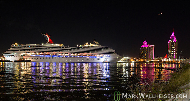 Carnival Triumph Cruise Arrives In Mobile Alabama USA Mark Wallheiser