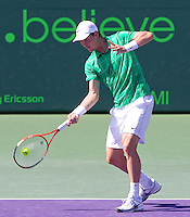 Tomas BERDYCH (CZE) against Fernando VERDASCO (ESP) in the quarter finals of the men's singles. Tomas Berdych beat Fernando Verdasco 4-6 7-6 6-4..International Tennis - 2010 ATP World Tour - Sony Ericsson Open - Crandon Park Tennis Center - Key Biscayne - Miami - Florida - USA - Thu 1 Apr 2010..© Frey - Amn Images, Level 1, Barry House, 20-22 Worple Road, London, SW19 4DH, UK .Tel - +44 20 8947 0100.Fax -+44 20 8947 0117