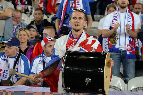 Supporters (Slovakia) ; <br /> June 15, 2016 - Football : Uefa Euro France 2016, Group B, Russia 1-2 Slovakia at Stade Pierre Mauroy, Lille Metropole, France. (Photo by aicfoto/AFLO)