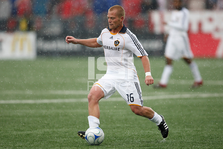 Los Angeles Galaxy midfielder Joe Franchino (16). Toronto FC defeated the Los Angeles Galaxy 2-0 during a Major League Soccer match at BMO Field in Toronto, Ontario, Canada, on May 31, 2008.