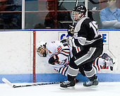 Greg Costa (NU - 22), Kyle MacKinnon (Providence - 15) - The Northeastern University Huskies defeated the Providence College Friars 3-1 (EN) on Tuesday, January 19, 2010, at Matthews Arena in Boston, Massachusetts.
