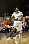 UK guard A'dia Mathies dribbles the ball up court during the second half of the UK Women's basketball game against Southern Miss on 11/19/11 in Lexington, KY. Photo by Quianna Lige | Staff