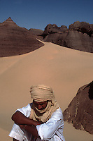 Tuaregs in the Al Hoggar area, Sahara Desert, Algeria.2002 model released..&copy; Owen Franken..2002...