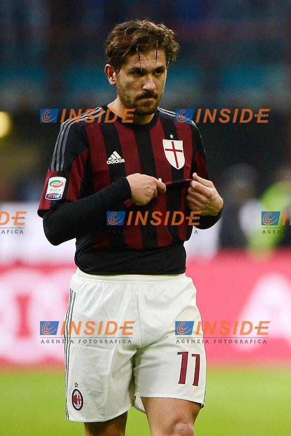 Delusione Alessio Cerci Milan<br /> Milano 6-01-2016 Stadio Giuseppe Meazza - Football Calcio Serie A Milan - Bologna. Foto Giuseppe Celeste / Insidefoto