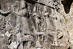Picture of Yazilikaya [ i.e written riock ], Hattusa  The largest known Hittite sanctuary. 13th century BC made in the reign of Tudhaliya 1V . 5