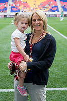 Kristine Lilly, Sidney Marie Heavey. The USWNT defeated Mexico, 1-0, during the game at Red Bull Arena in Harrison, NJ.