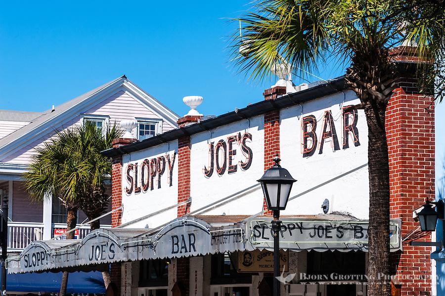 US, Florida, Key West. Sloppy Joe's is a historic bar on Duval Street.