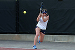 24 March 2016: Notre Dame's Jane Fennelly. The North Carolina State University Wolfpack hosted the University of Notre Dame Fighting Irish at the J.W. Isenhour Tennis Center in Raleigh, North Carolina in a 2015-16 NCAA Division I Women's Tennis match. NC State won the match 4-3.